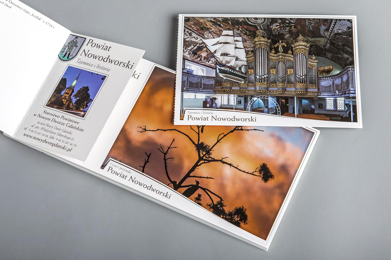 Kolekcja kartek atrakcji turystycznych powiatu Nowodworskiego