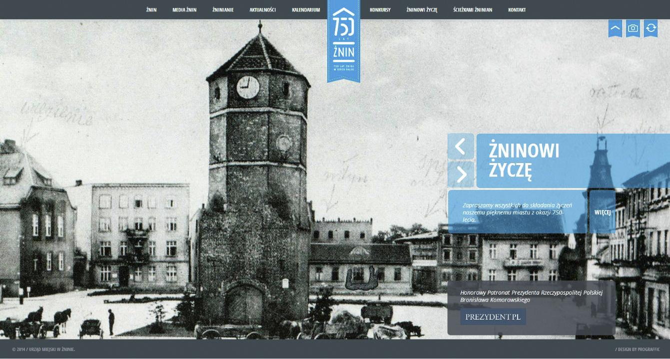 Strona 750 lat Żnina