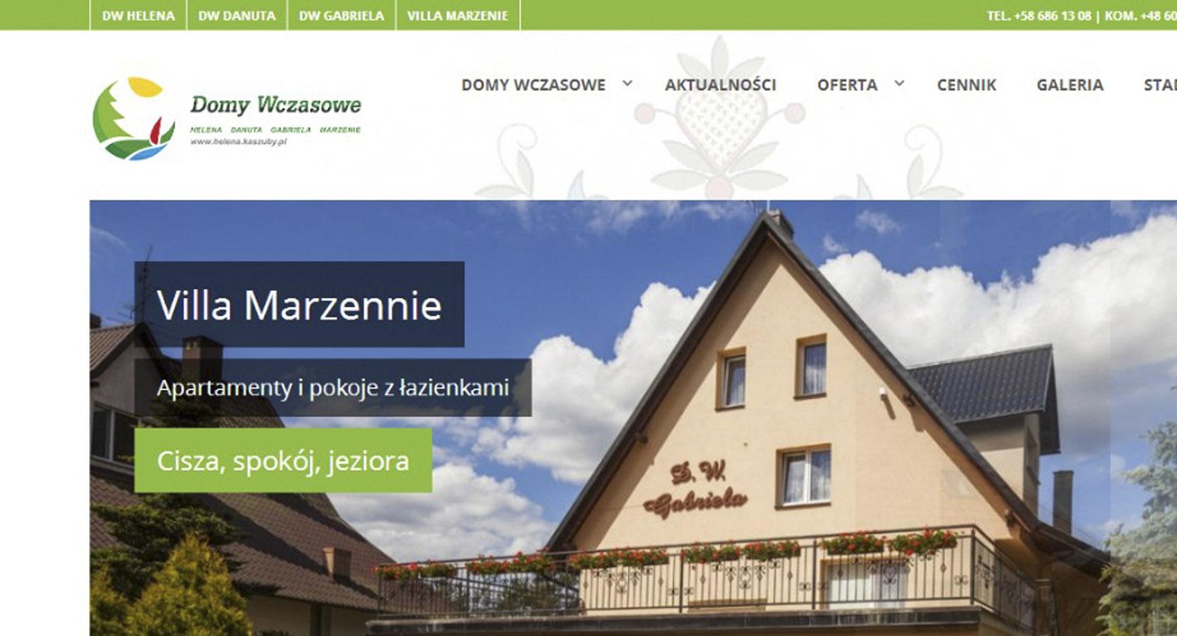Strona Domów Wczasowych na Kaszubach